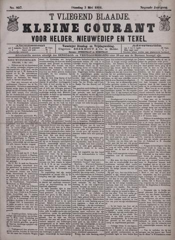 Vliegend blaadje : nieuws- en advertentiebode voor Den Helder 1881-05-03