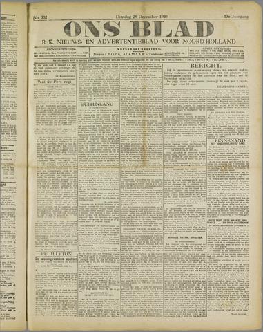Ons Blad : katholiek nieuwsblad voor N-H 1920-12-28
