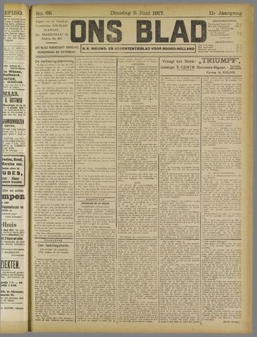 Ons Blad : katholiek nieuwsblad voor N-H 1917-06-05