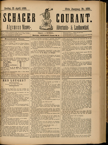 Schager Courant 1889-04-21
