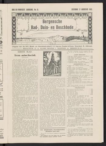 Bergensche bad-, duin- en boschbode 1932-08-27