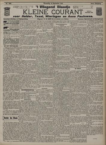 Vliegend blaadje : nieuws- en advertentiebode voor Den Helder 1910-09-14