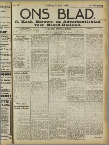 Ons Blad : katholiek nieuwsblad voor N-H 1913-10-31