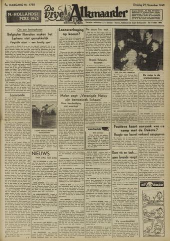 De Vrije Alkmaarder 1949-11-29