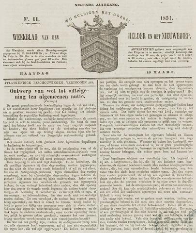 Weekblad van Den Helder en het Nieuwediep 1851-03-10
