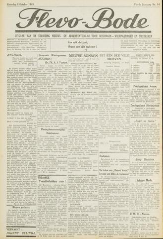 Flevo-bode: nieuwsblad voor Wieringen-Wieringermeer 1949-10-08