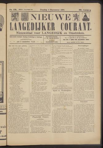 Nieuwe Langedijker Courant 1924-09-02