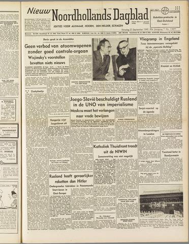Nieuw Noordhollandsch Dagblad : voor Alkmaar en omgeving 1949-09-27
