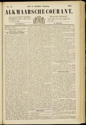 Alkmaarsche Courant 1886-04-04