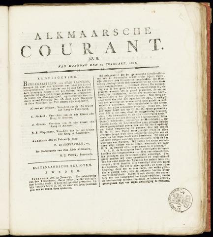 Alkmaarsche Courant 1817-02-24