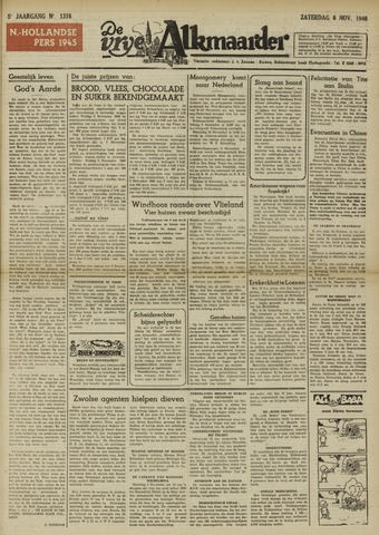 De Vrije Alkmaarder 1948-11-06