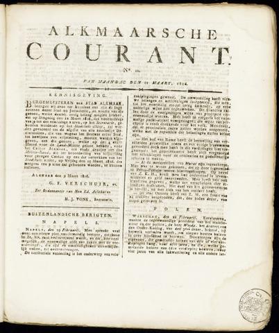Alkmaarsche Courant 1816-03-11