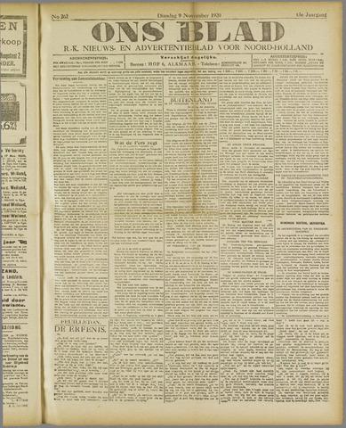 Ons Blad : katholiek nieuwsblad voor N-H 1920-11-09