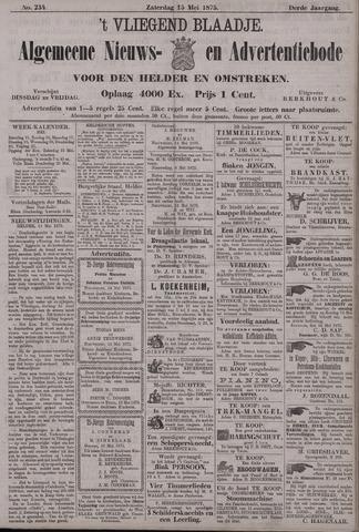 Vliegend blaadje : nieuws- en advertentiebode voor Den Helder 1875-05-15