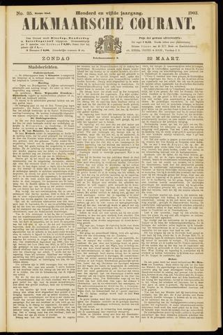 Alkmaarsche Courant 1903-03-22