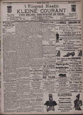 Vliegend blaadje : nieuws- en advertentiebode voor Den Helder 1897-04-10