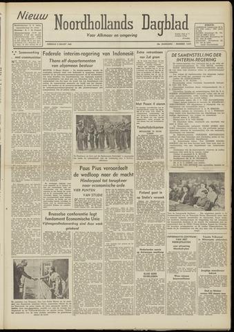 Nieuw Noordhollandsch Dagblad : voor Alkmaar en omgeving 1948-03-09