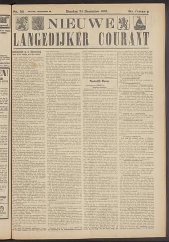 Nieuwe Langedijker Courant 1925-12-22