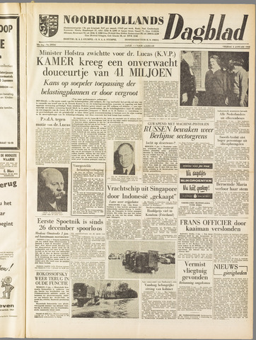 Noordhollands Dagblad : dagblad voor Alkmaar en omgeving 1958-01-03