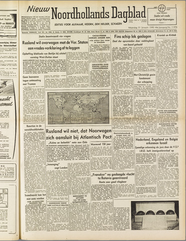 Nieuw Noordhollandsch Dagblad : voor Alkmaar en omgeving 1949-01-31