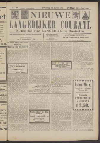 Nieuwe Langedijker Courant 1921-04-23