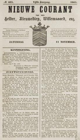 Nieuwe Courant van Den Helder 1865-11-11