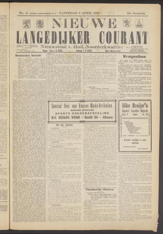 Nieuwe Langedijker Courant 1930-04-05