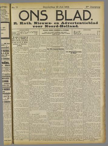 Ons Blad : katholiek nieuwsblad voor N-H 1912-07-18