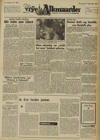 De Vrije Alkmaarder 1947-09-10