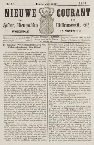 Nieuwe Courant van Den Helder 1861-11-13