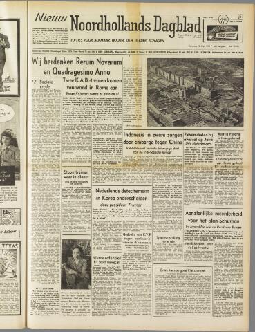 Nieuw Noordhollandsch Dagblad : voor Alkmaar en omgeving 1951-05-12