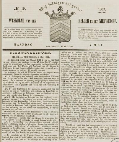 Weekblad van Den Helder en het Nieuwediep 1857-05-04