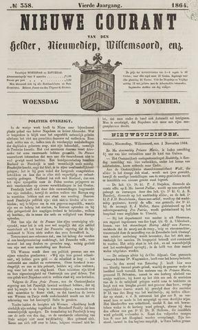 Nieuwe Courant van Den Helder 1864-11-02
