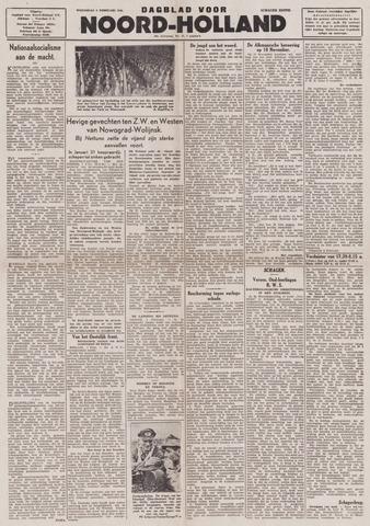Dagblad Noord-Holland, Schager editie 1944-02-02