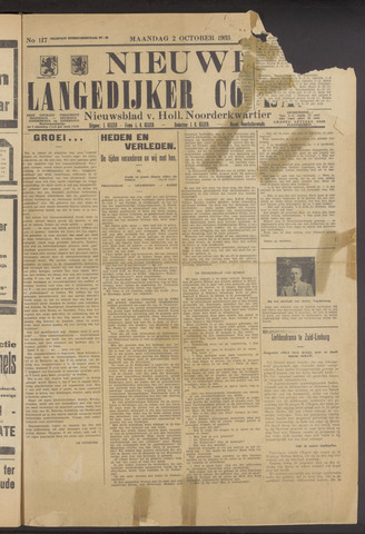 Nieuwe Langedijker Courant 1933-10-02