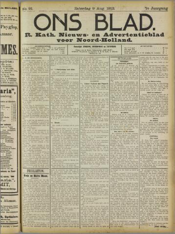 Ons Blad : katholiek nieuwsblad voor N-H 1913-08-09