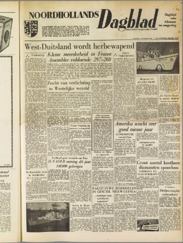 Noordhollands Dagblad : dagblad voor Alkmaar en omgeving 1954-12-31