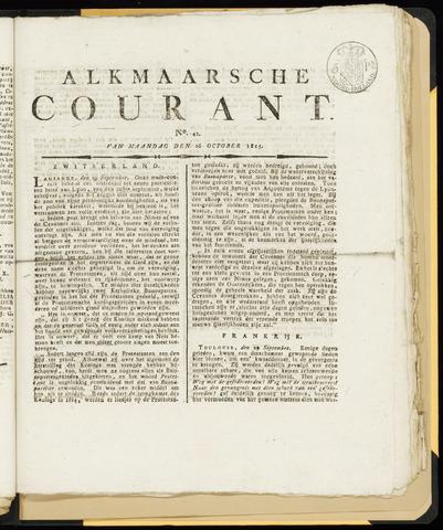 Alkmaarsche Courant 1815-10-16