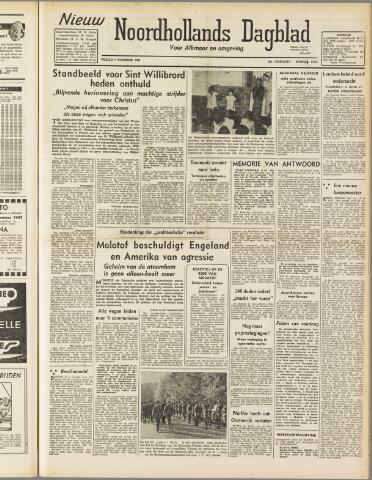 Nieuw Noordhollandsch Dagblad : voor Alkmaar en omgeving 1947-11-07