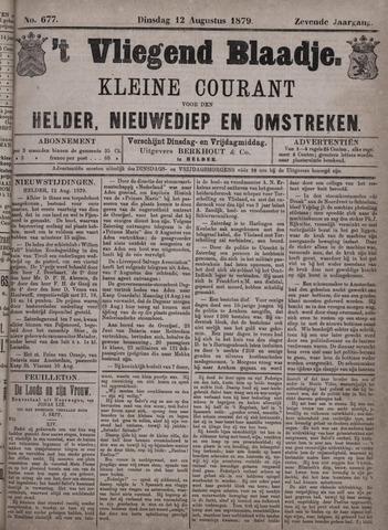 Vliegend blaadje : nieuws- en advertentiebode voor Den Helder 1879-08-12