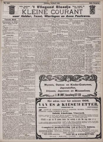 Vliegend blaadje : nieuws- en advertentiebode voor Den Helder 1906-04-14
