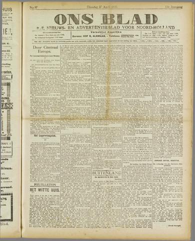 Ons Blad : katholiek nieuwsblad voor N-H 1920-04-27