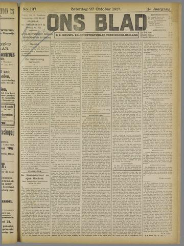 Ons Blad : katholiek nieuwsblad voor N-H 1917-10-27