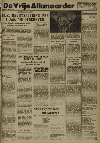 De Vrije Alkmaarder 1947-02-22