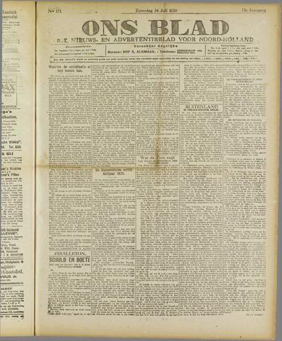 Ons Blad : katholiek nieuwsblad voor N-H 1920-07-24