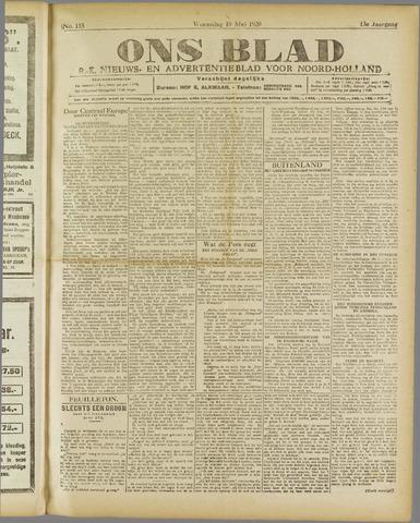 Ons Blad : katholiek nieuwsblad voor N-H 1920-05-19