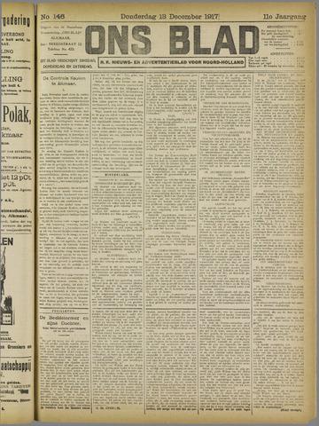 Ons Blad : katholiek nieuwsblad voor N-H 1917-12-13