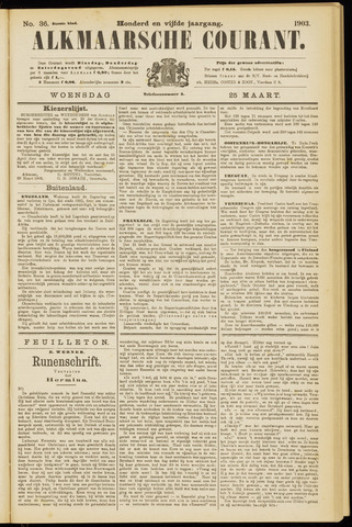 Alkmaarsche Courant 1903-03-25