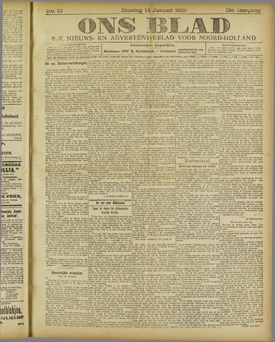 Ons Blad : katholiek nieuwsblad voor N-H 1919-01-14