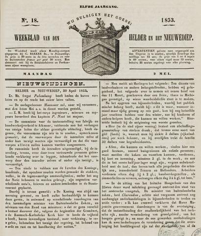 Weekblad van Den Helder en het Nieuwediep 1853-05-02